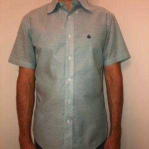Non Iron Brookscool Milano Fit Short Sleeve Shirt